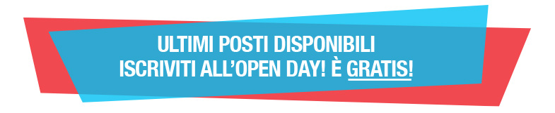iscriviti all'open day è GRATIS!
